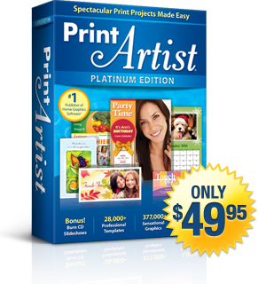 Print Artist 25 Platinum Edition | Only $49.95